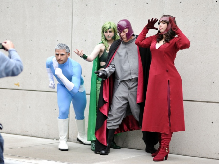 4 cosplayers at Comic Con 2014.