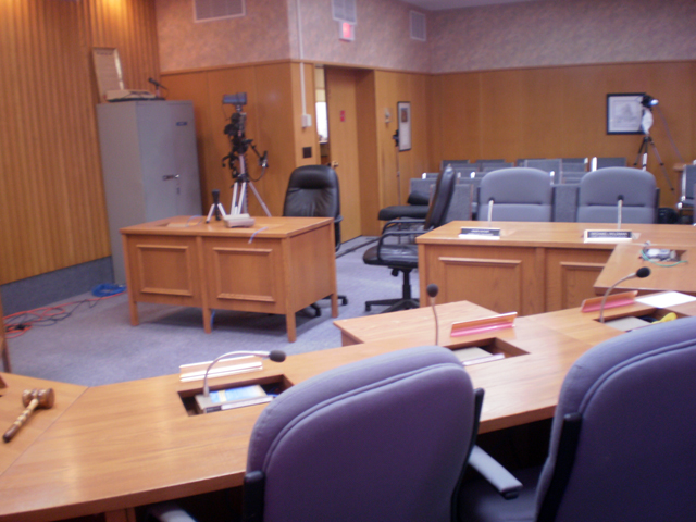 Cameras Set Up in Arnprior's Council Chambers.