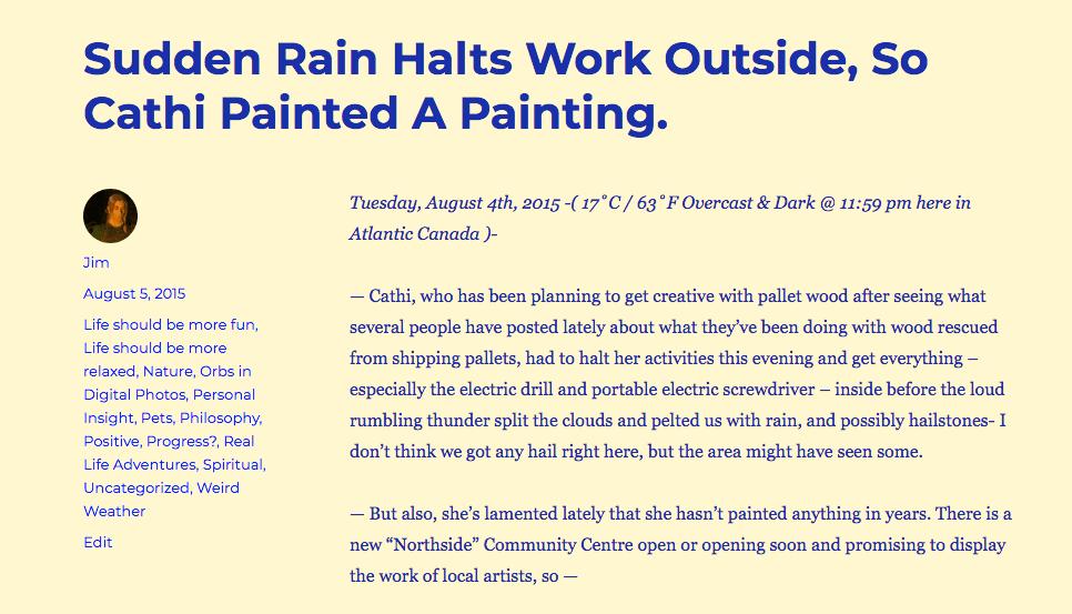 """Sudden Rain -"""