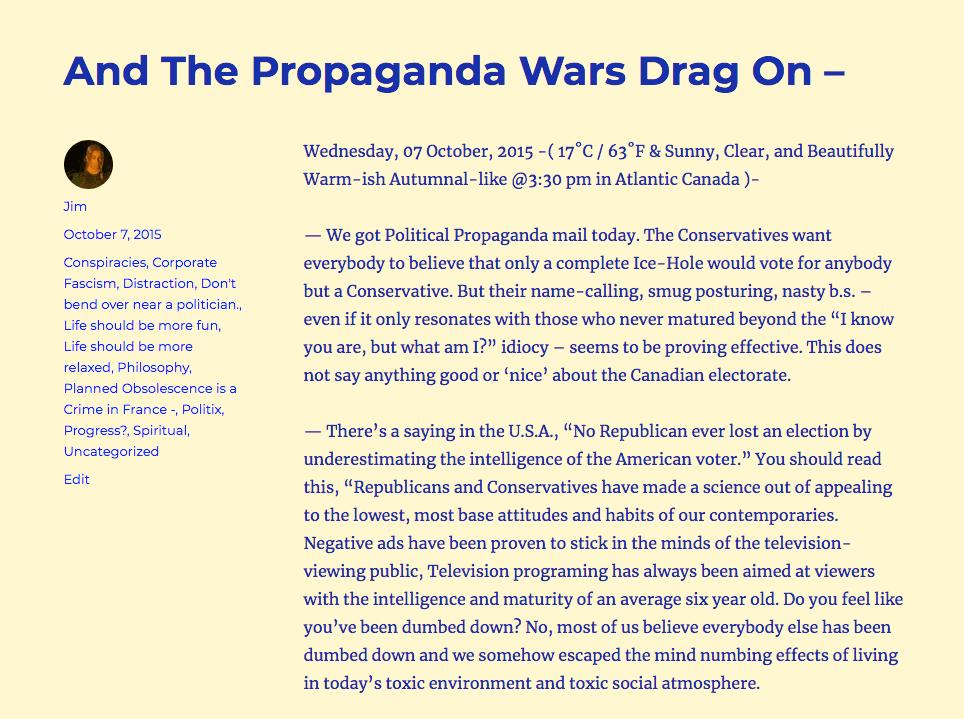 """Propaganda Wars -"""
