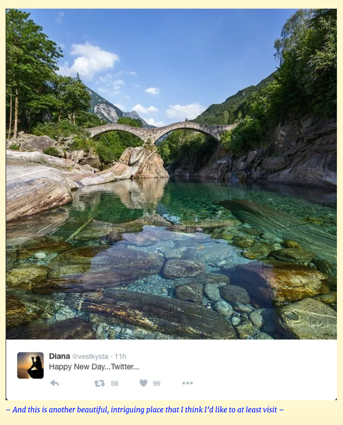 """""""Clear Stream With Bridge and Hills"""""""