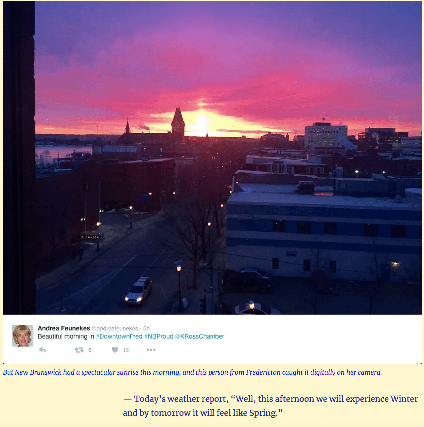 """""""Sunrise Over Downtown Fredericton -"""""""