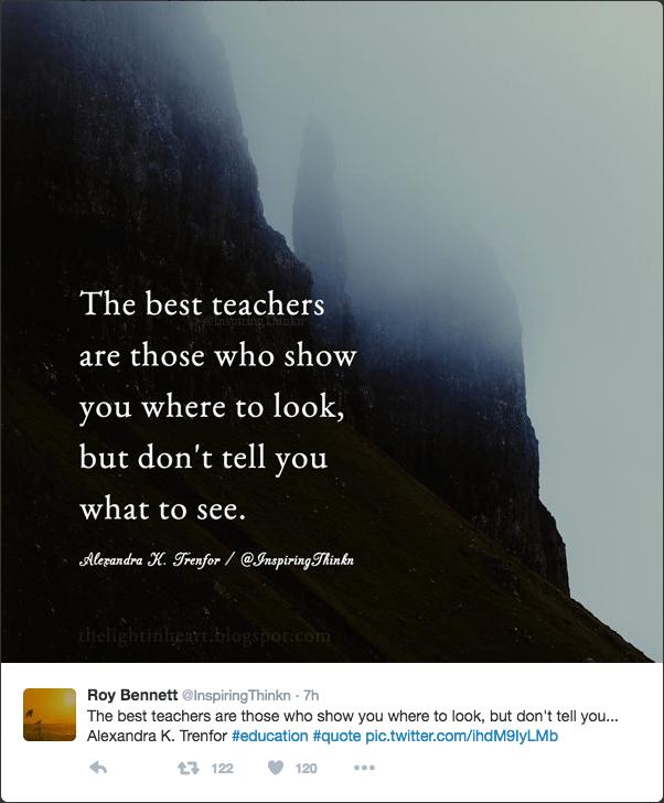 Best Teachers Quote