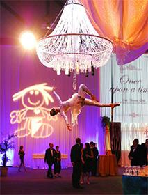chandelier aerial bartenders
