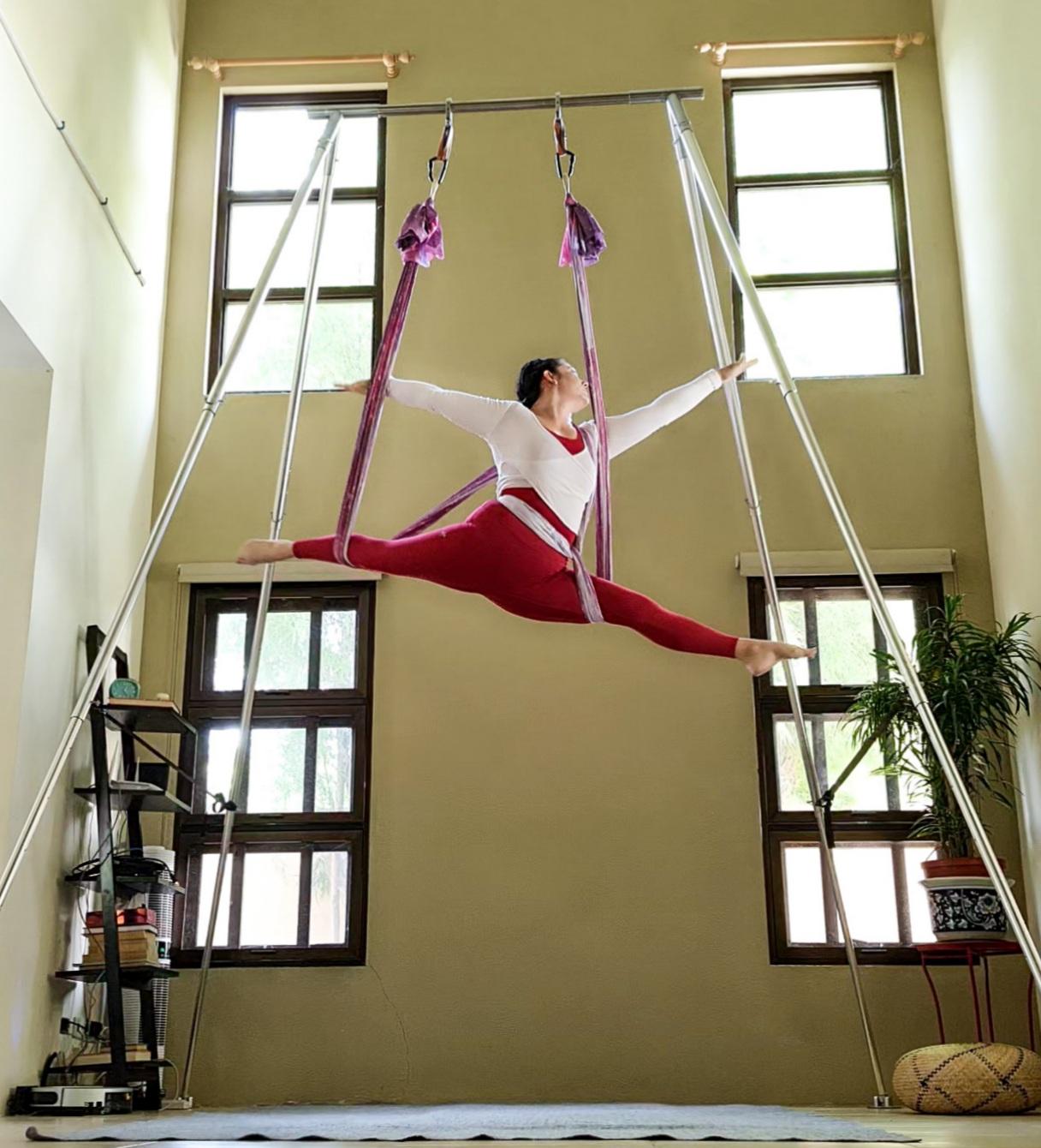 Aerial Fitness Splits
