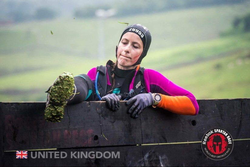 Getting over a Wall at the Spartan Race Ultra Beast
