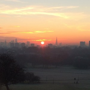 Sunrise over Primrose Hill