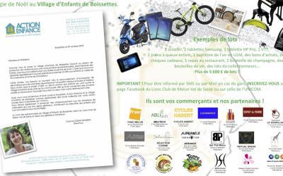 Tombola caritative pour le Village des enfants de Boissettes