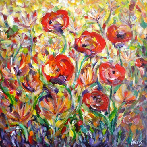 Red Poppies Original Acrylic Painting