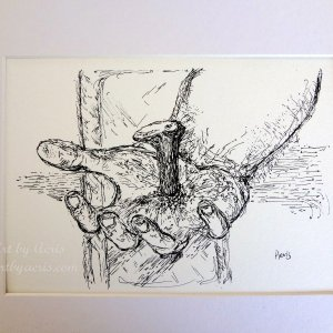 Jesus Hand Art