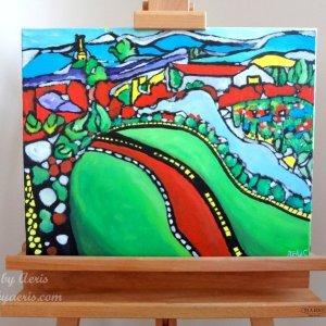 Vineyard Kelown Painting