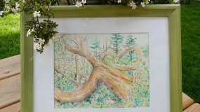 Windy Tree Painting