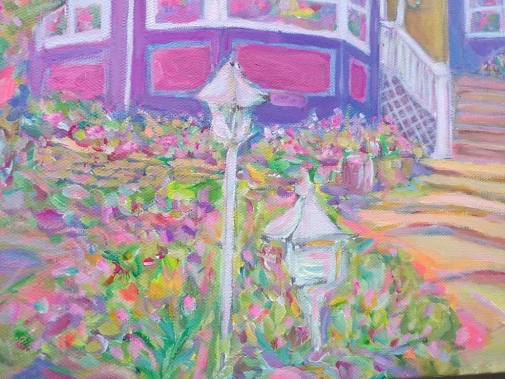 Highlands Victorian House Acrylic Painting By Aeris Osborne 5