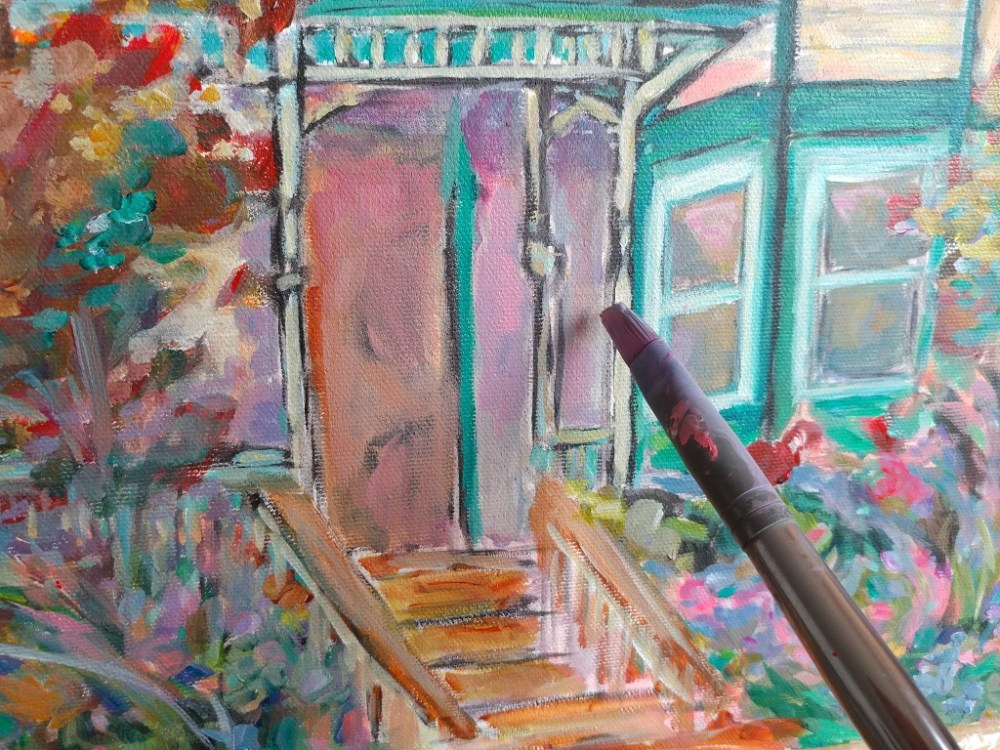 House Portrait Work In Progress Aeris Osborne