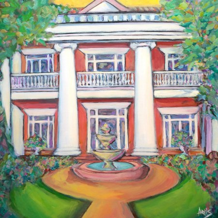 Highlands Classical House Painting Magarth Mansion By Aeris Osborne