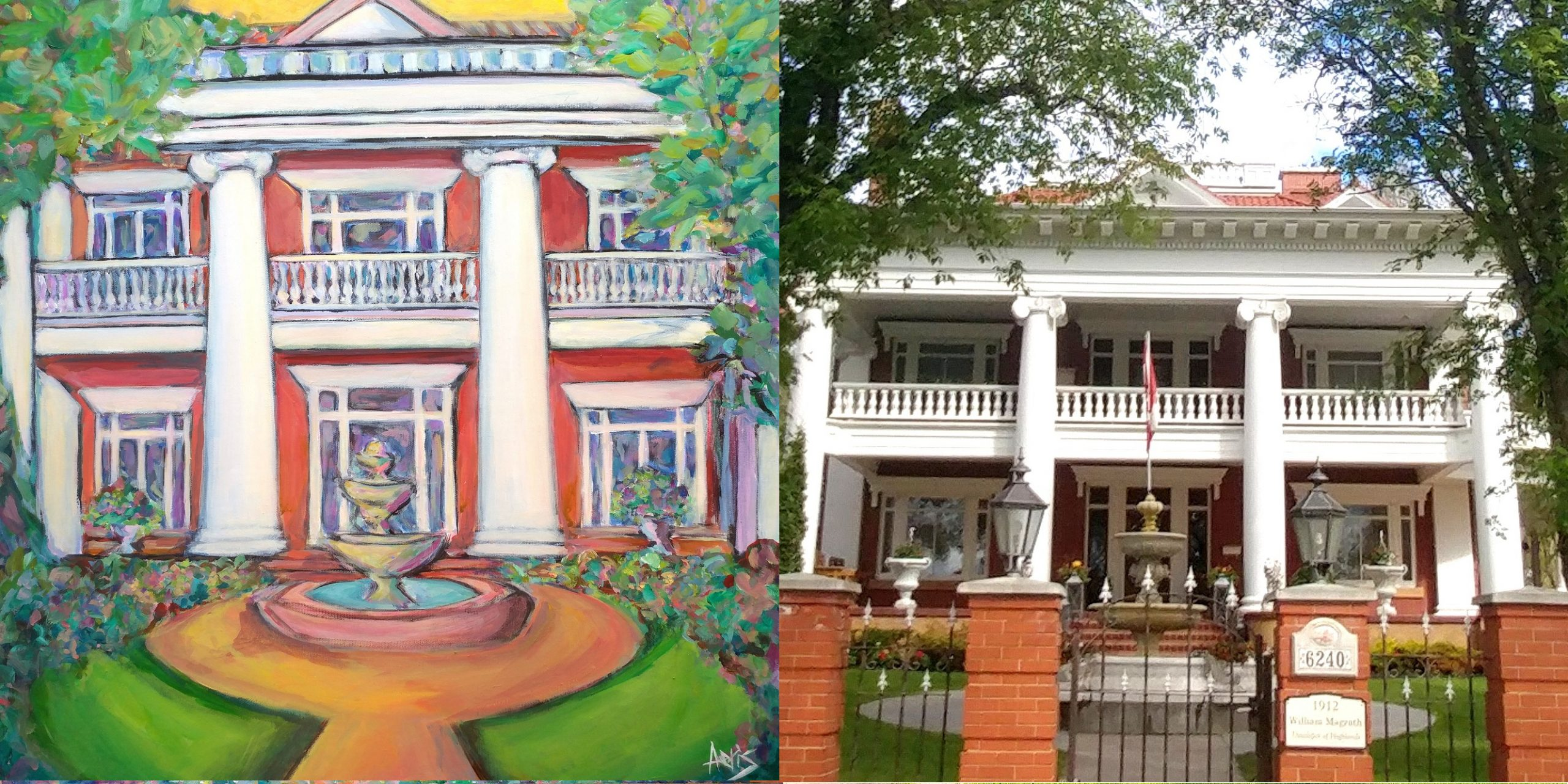 Highlands Classical House Painting Magrath Mansion By Aeris Osborne