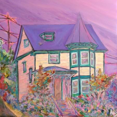 McCauley Victorian Queen Anne House Painting Aeris Osborne