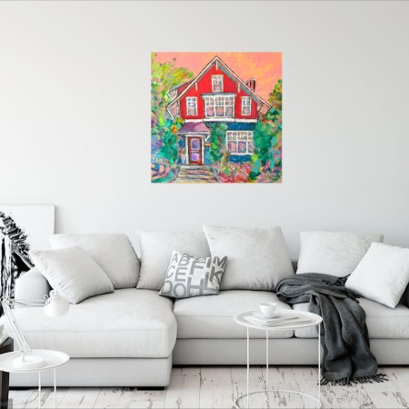 Westmount Foursquare Red House Painting