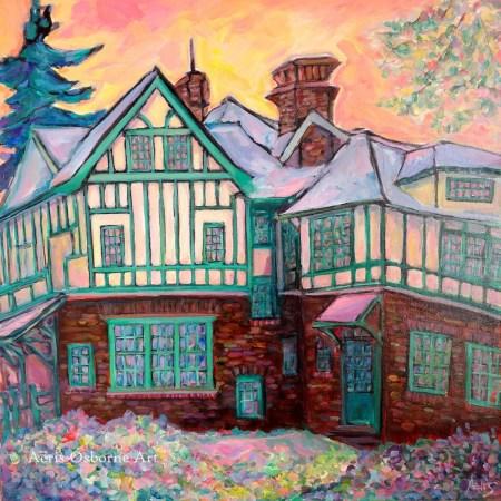Westmount Tudor House Painting By Aeris Osborne