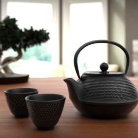 Traditional Japanse Tea Set - High Front View