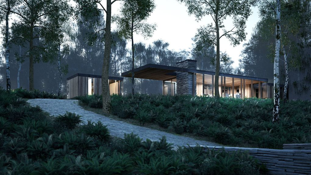 Architecture Exterior concept 1 - morning view