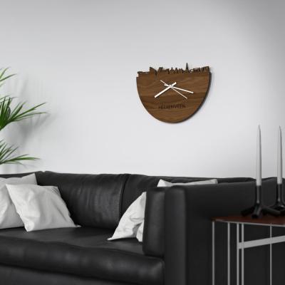 Heerenveen Skyline Walnut Clock Couch