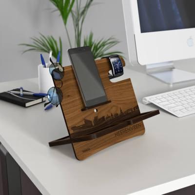 Heerenveen Skyline Walnut Desk Organizer