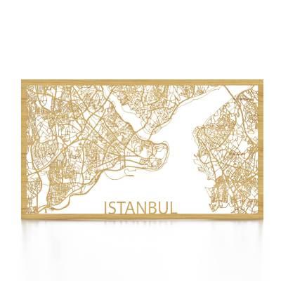 Istanbul Skyline Oak City Map Front