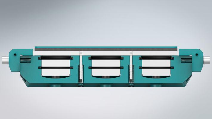 Trebu Technology Brake: 200-3120 Front Cross-sectionView