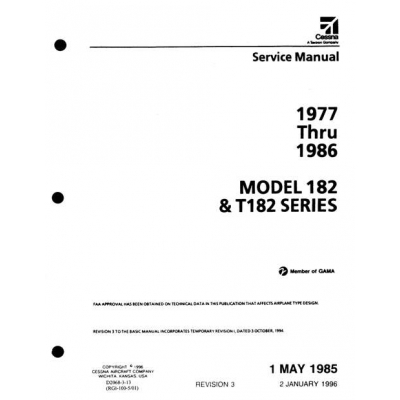 Cessna 182 & T182 Series 1977 thru 1986 Service Manual