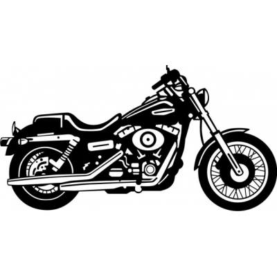 2007 Harley Dyna Glide Motorcycle Vinyl Sticker/Decal 12