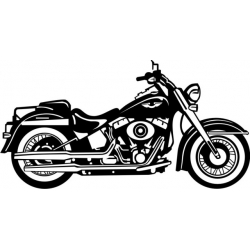 2007 Harley Softail Motorcycle Vinyl Sticker/Decal 12