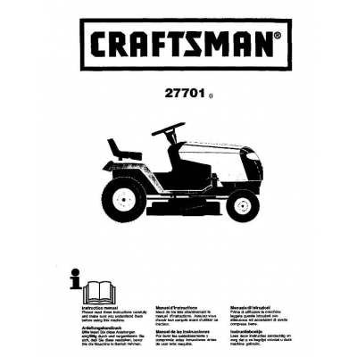 917.27701 12.5 HP Instruction Manual Craftsman $4.95