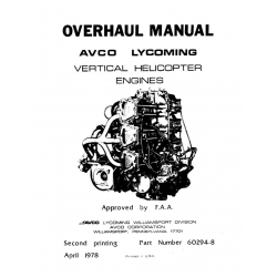 Lycoming Overhaul Manual 60294-8 VO-360, IVO-360, VO-435