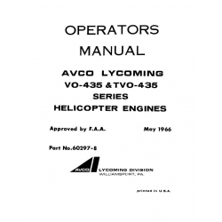 Lycoming Operator's Manual Part # 60297-8 VO & TVO-435