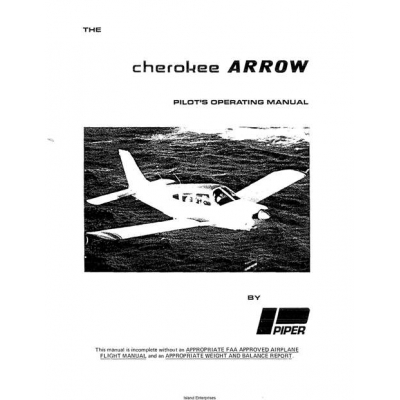 Airplane flight Manual Pa 28 180 Cherokee