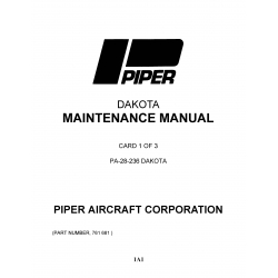 Piper Dakota Maintenance Manual PA-28-236 $13.95 Part