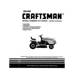 917.256450 12.5 HP Owner's Manual Sears Craftsman $4.95