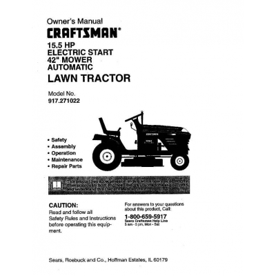 Sears Craftsman Lawn Tractor Wiring Diagram, Sears, Free