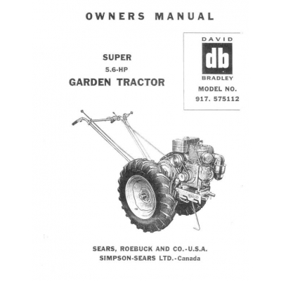 Garden Tractor (David Bradley) Super 5.6-HP Model No. 917