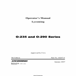 Lycoming O-235 and O-290 Series Operator's Manual Part