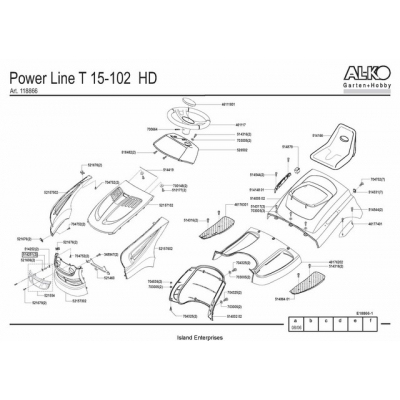 AL-KO Garden Tractor Power Line T15-102 HD Parts Manual $4.95