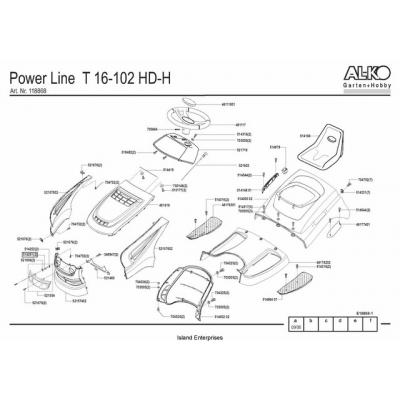 AL-KO Garden Tractor Power Line T16-102 HD-H Parts Manual