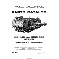 Lycoming IGO-540 and IGSO-540 Series Aircraft Engines