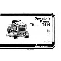 Allis Chalmers T811-T816 Operator's Manual $4.95