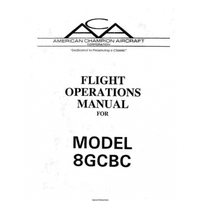 American Champion 8GCBC Flight Operations Manual Rev 1992