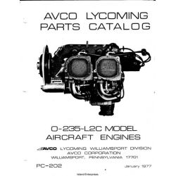 Avco Lycoming O-235-L2C Aircraft Engines Parts Catalog