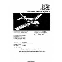Avion Piper Cherokee Warrior II PA-28-161 Manual de Vol