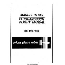 Avions Pierre Robin DR 400/180 Flight Manual /POH 1972 $4.95