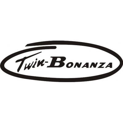 Twin Bonanza Aircraft Decal/Sticker 10.5''w x 3.55''h!